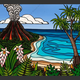 "Heather Brown ISLAND VOLCANO, 16""X20"" GALLERY WRAP GICLEE ON CANVAS, LIMITED EDITION #5/100 SO22835"