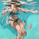 Camille Izumi Art DEEP GREEN - ORIGINAL OIL PAINTING ON CANVAS, 16x16