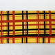 Leina Aonuma YELLOW/ORANGE/BLACK STRAIGHT FLAP OBI CLUTCH