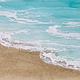 "Robin Appasamy ORIGINAL ENCAUSTIC PAINTING, WALK ON THE BEACH (SINGLE), 10""X20"""