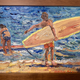 Mark Brown ORIGINAL OIL PAINTING 8X10: TANDEM SURFERS