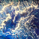 """CHANGING TIDES, 18"""" X 18"""" ORIGINAL  ACRYLIC & GEL PAINTING WITH MICROPLASTICS"""