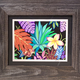 "Miriam Zora Engel GARDEN PARTY II, FRAMED ORIGINAL PAITNING, 20""X17"" WITH FRAME"