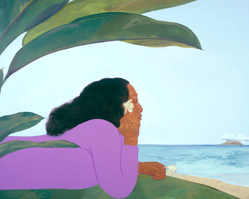 Pegge Hopper Walk Across the Sea B  30x36 Canvas Giclee GW (with floater frame) #91/195