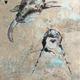 John Baran VERTICAL HUMPBACKS 2.0, 9X12 PRINT ON WOOD