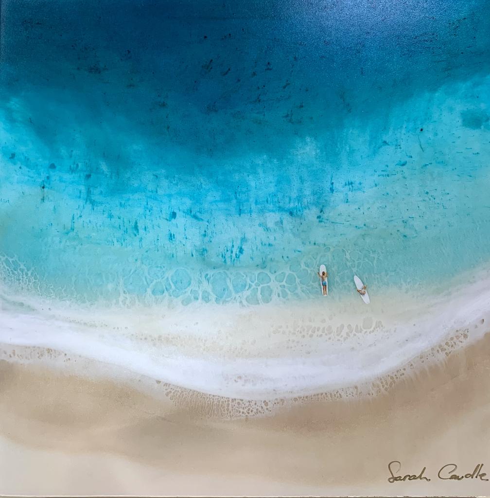 Sarah Caudle BAMBOO PRINT, 10X10, SURF DATE