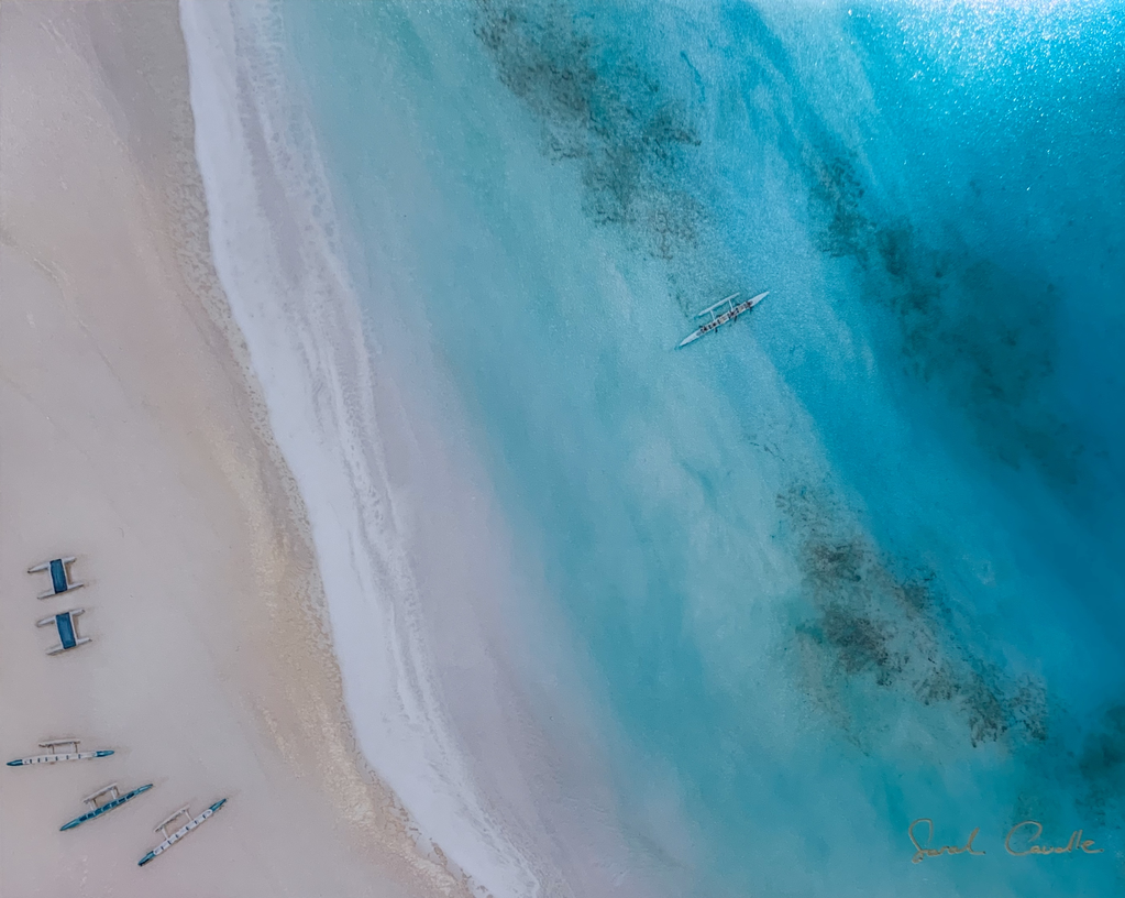 Sarah Caudle BAMBOO PRINT, 8X10, LANIKAI BEACH