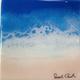 "Sarah Caudle ORIGINAL RESIN PAINTING- ISLAND DREAMER 6, 6""X6"" UNFRAMED"
