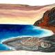 Christian Bendo BLACK SAND HONU (LYCHEE): HANDCARVED WOOD WALL PLAQUE- RESIN, HANDPAINTED