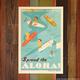 Nick Kuchar 12X18 RETRO HAWAII TRAVEL PRINT: SPREAD THE ALOHA