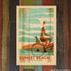 Nick Kuchar 12X18 RETRO HAWAII TRAVEL PRINT: SUNSET WAHINE