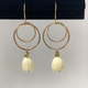 Leinai'a LLC PIKAKE DOUBLE HOOP EARRINGS