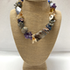 Beverly Creamer Necklace multi-strand combo with handmade glass beads, biwa pearls, labrodite chips, amethyst chips and much more.