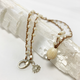 "MiNei Designs #2381 - 20"" Mother of Pearl Beads w/ Vintage Ming's Jewelry Ivory Pikake"