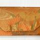 Leina Aonuma ORANGE FLOWERS ENVELOPE OBI CLUTCH
