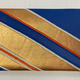 Leina Aonuma BLUE/GOLD GEOMETRIC STRAIGHT CLUTCH