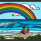 "Heather Brown LOVE UNDER THE RAINBOW, 16""X20"" GALLERY WRAP GICLEE ON CANVAS, LIMITED EDITION #3/100 SO25240"
