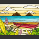 """Heather Brown LANIKAI DAYDREAM, 16""""X24"""" GALLERY WRAP GICLEE ON CANVAS, LIMITED EDITION #185/250, SO25240"""