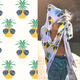 Luv Bug Company PINEAPPLE FACE UPF 50+ SUNSCREEN TOWEL WITH HOOD