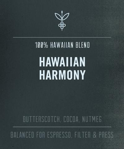 Big Island Coffee Roasters 7 OZ WHOLE BEAN ROASTED COFFEE: HAWAIIAN HARMONY (MED. DARK)