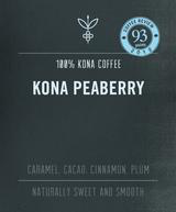 Big Island Coffee Roasters 7OZ. WHOLE BEAN ROASTED COFFEE: 100% KONA PEABERRY