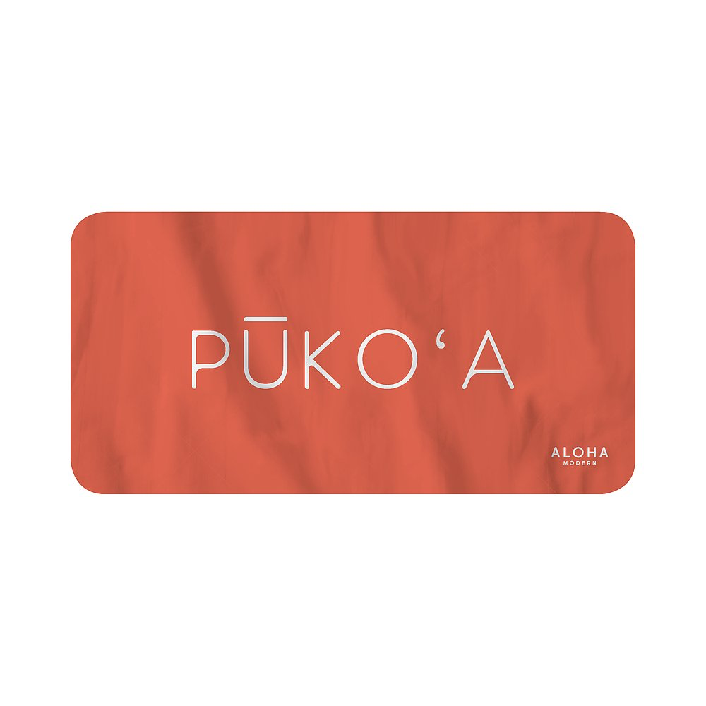 Aloha Modern BEACH TOWEL-PUKO'A