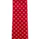Pineapple Palaka Pineapple Hibiiscus Loose Red/Silver/Blue: Modern Necktie
