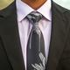 Pineapple Palaka Ti Plant - Black/Grey Modern Necktie