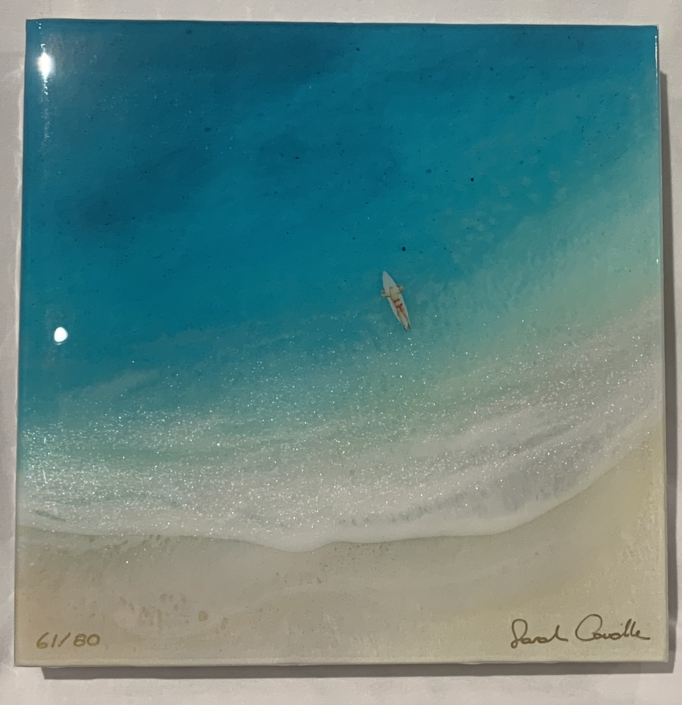 Sarah Caudle LIMITED EDITION 8X8 RESIN PRINT, #61/80, WAHINE