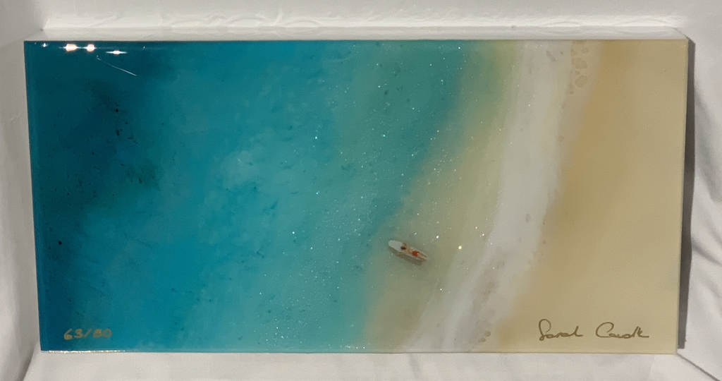 Sarah Caudle LIMITED EDITION 6X12 RESIN PRINT, #63/80, SOUL SURFER