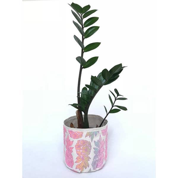 "Sax Home 4"" SMALL FABRIC/CANVAS PLANTER - Rainbow Pineapple Jana Lam Plant Sax"