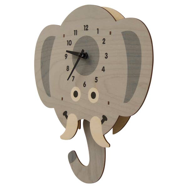 Modern Moose ELEPHANT HEAD - PENDULUM CLOCK