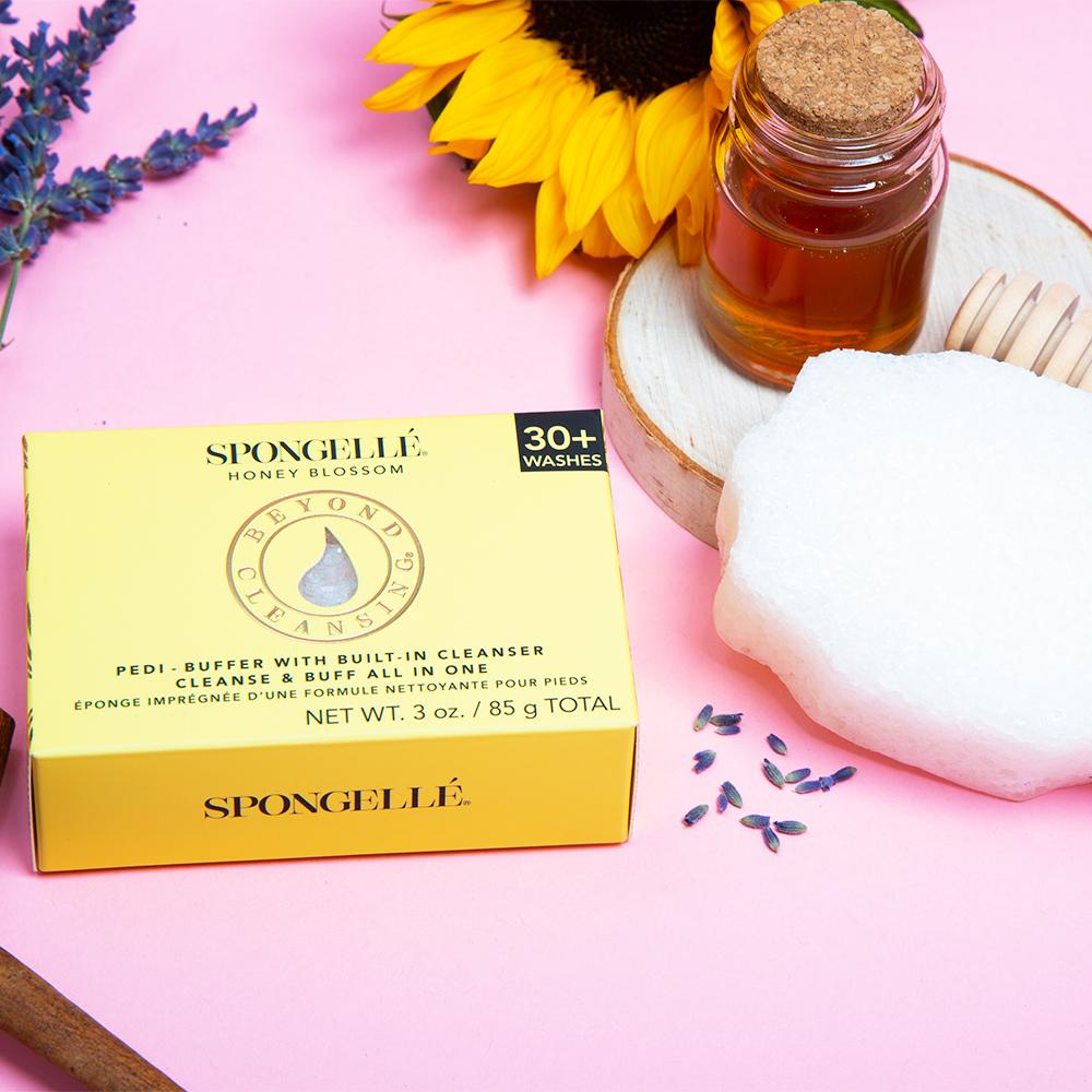 Spongelle PEDI BUFFER: HONEY BLOSSOM