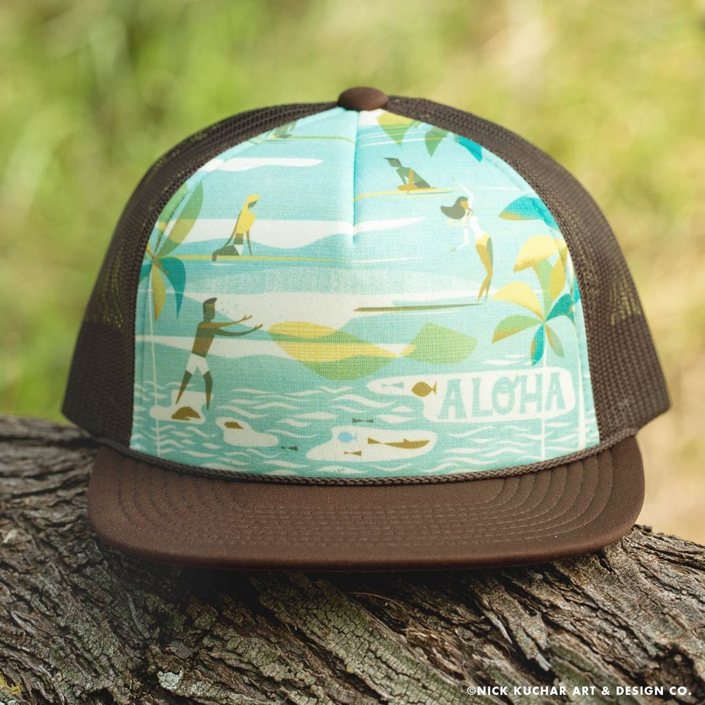 Nick Kuchar FOAM TRUCKER HAT - HOLOHOLO - COCO BROWN