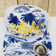 Route 99 Hawaii ALOHA ISLAND HAT-Blue/Yellow