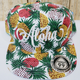 Route 99 Hawaii ALOHA FLORAL HAT - Pineapples with Cream Aloha