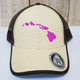 Route 99 Hawaii LAUHALA ISLAND HAT - Pink Islands