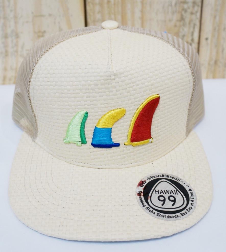 Route 99 Hawaii LAUHALA SURF HAT - MULTICOLOR FINS