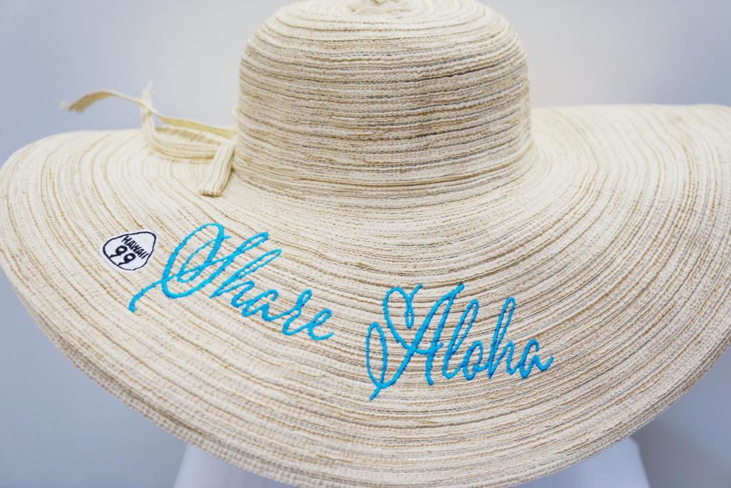 Route 99 Hawaii FLOPPY SUN HAT - Share Aloha Turquoise