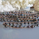"MiNei Designs #2306 52"" Pearl Jam Black Freshwater Pearls on Beige Silk Necklace or Wrap Bracelet"