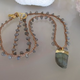 """MiNei Designs #2359  16"""" Labradorite Beads with Labradorite Pendant"""