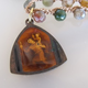 "MiNei Designs #2362A   16""  Faceted Jasper with Catholic Pendant"