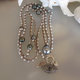 "MiNei Designs #2368   40""  Howlite beads with 9 Tahitian Pearls and Evil Eye Pendant (can be worn double wrapped)"