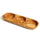 Natural Olive Wood THREE SECTION TRAY