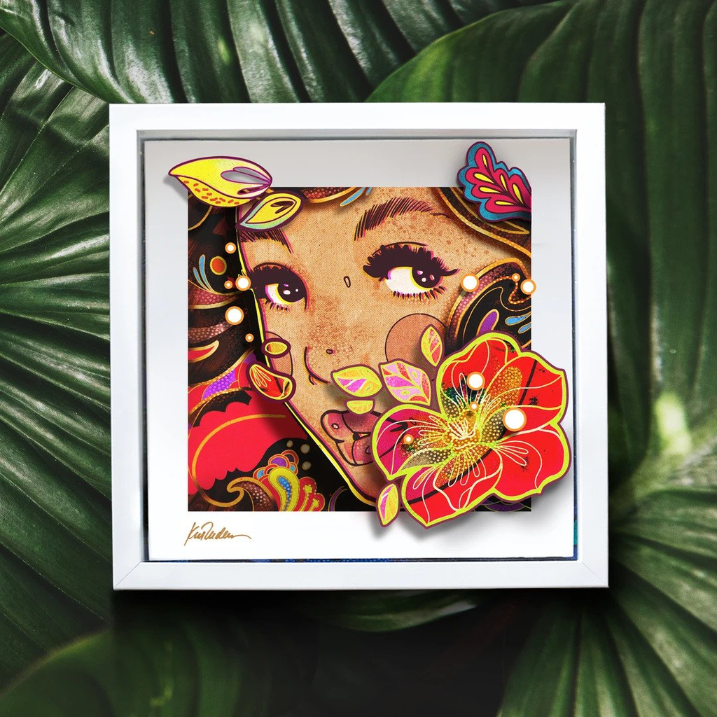 "Kat Reeder 3D POP IN SHADOW BOX (APPROX 13"" X 13""): LOST IN PARADISE"