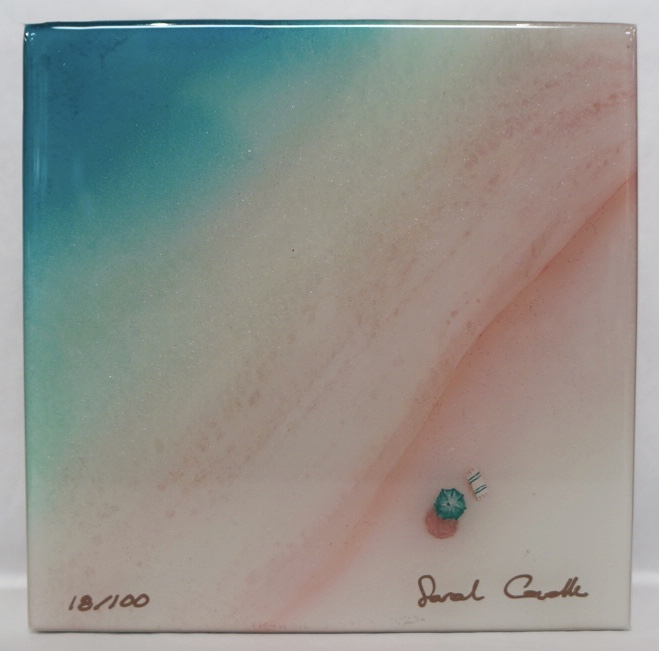 "Sarah Caudle LIMITED EDITION  RESIN PRINT - PAINT YOUR PARADISE, #18/100, 6""X6"""
