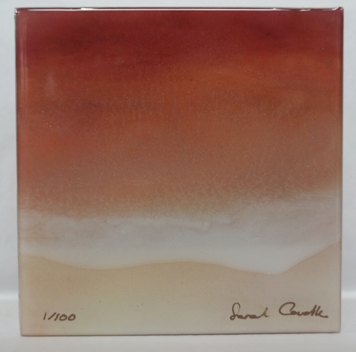 "Sarah Caudle LIMITED EDITION  RESIN PRINT - SUNKISSED SEA 8, #1/100, 6""X6"""