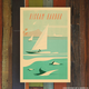 Nick Kuchar 12X18 RETRO TRAVEL PRINT: HICKAM HARBOR OAHU