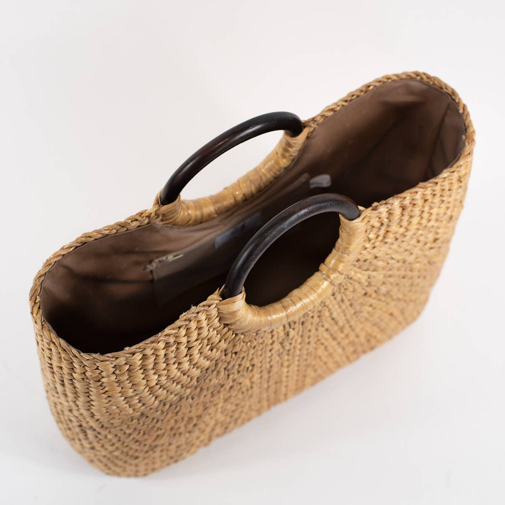 Sea & Grass SARA MARKET TOTE WITH WOODEN HANDLE