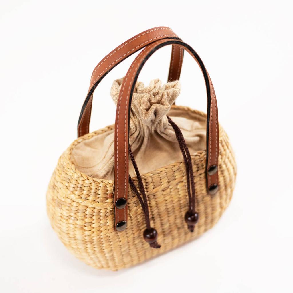 Sea & Grass MINI TOTE-TAN HANDLE
